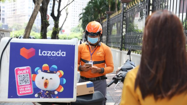 Lazada Vietnam touch-free delivery