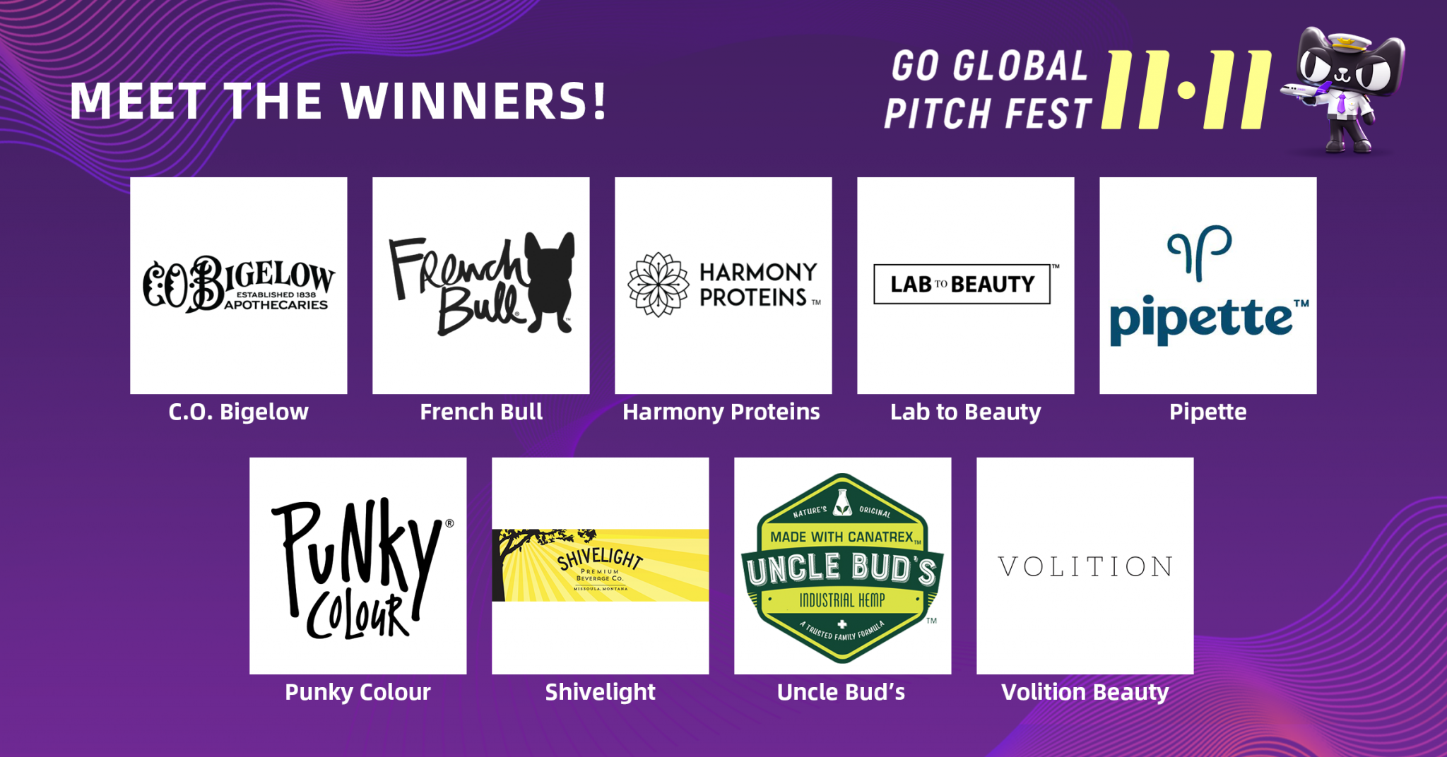 Go Global 11.11 Pitch Fest Winners - featured images